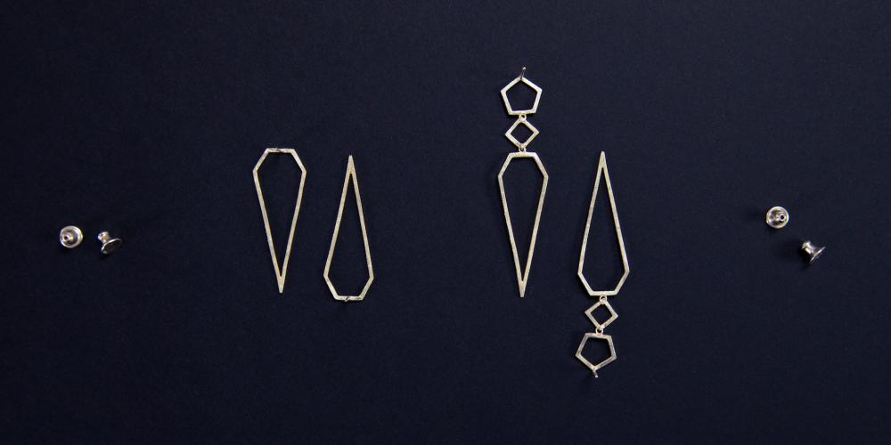 vaessen walker designer custom handmade jewellery fairtrade gold silver wedding engagement reading berkshire Arrora earrings