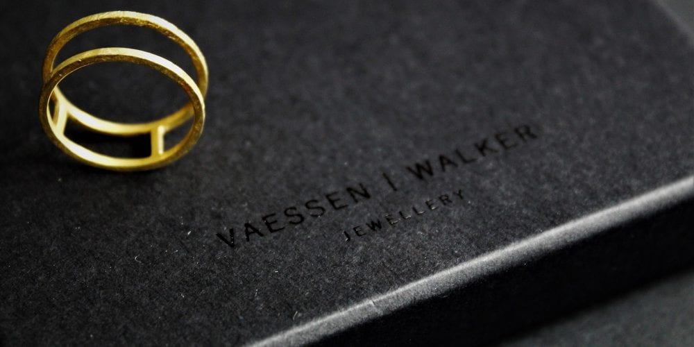 vaessen walker designer custom handmade jewellery tableware gold silver necklace rings packaging