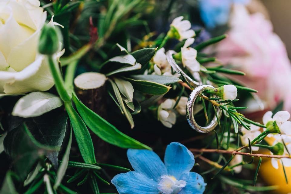 LAURA'S HAMMERED BESPOKE WEDDING RING